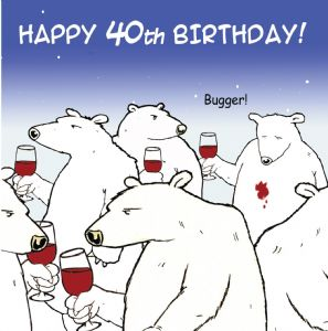 TW461 - Age 40 Funny Card